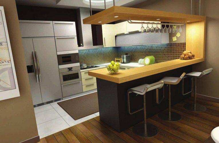 Барная стойка на кухне: комфорт и новые возможности
